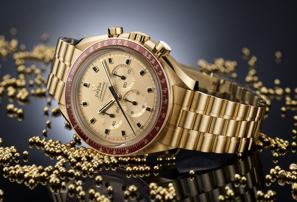 Omega Speedmaster en or Moonshine
