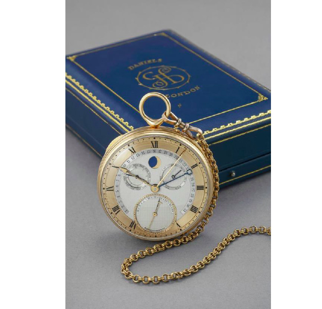 Gold pocket watch George Daniels