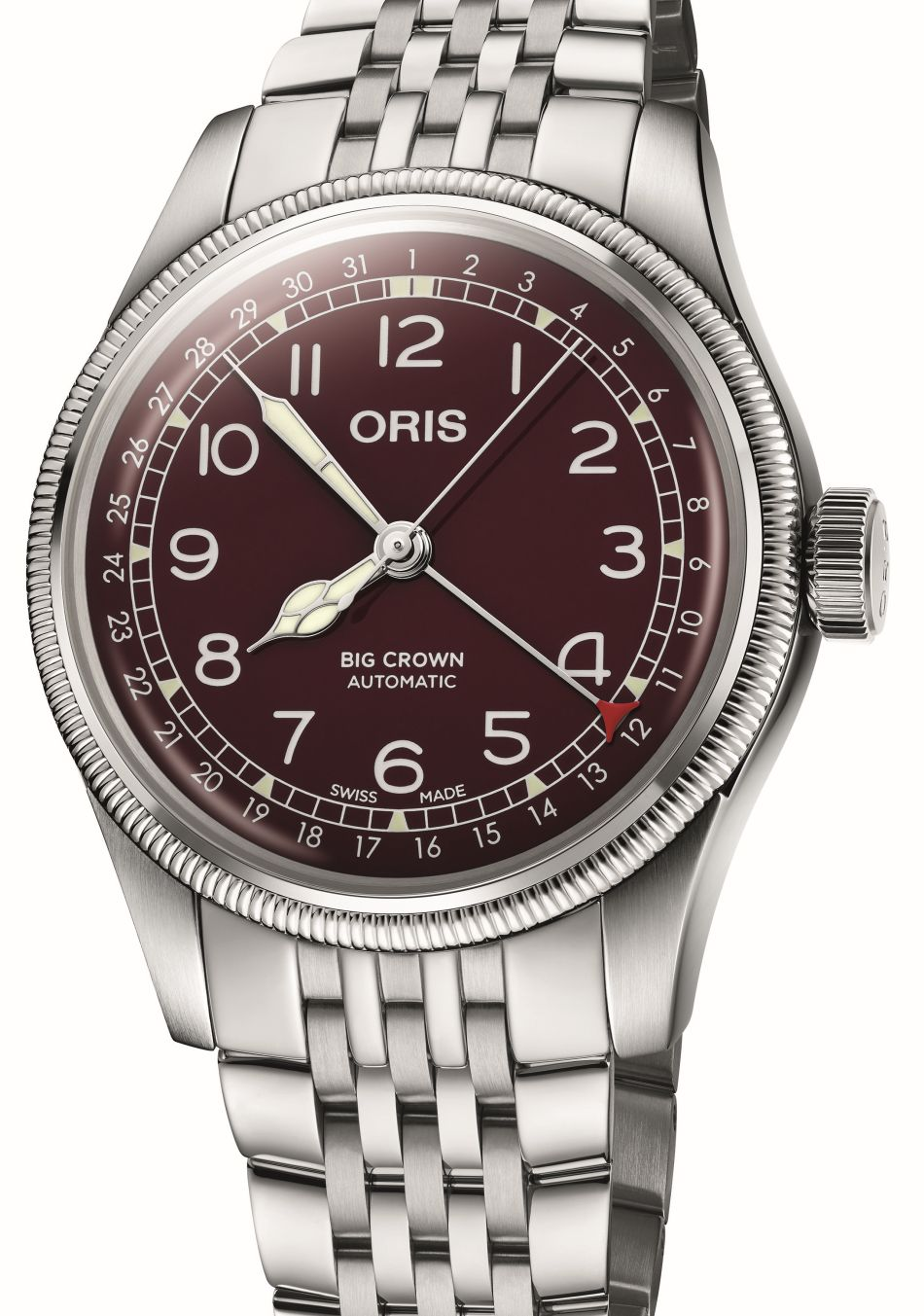 Oris Big Crown Pointer Date cadran carmin