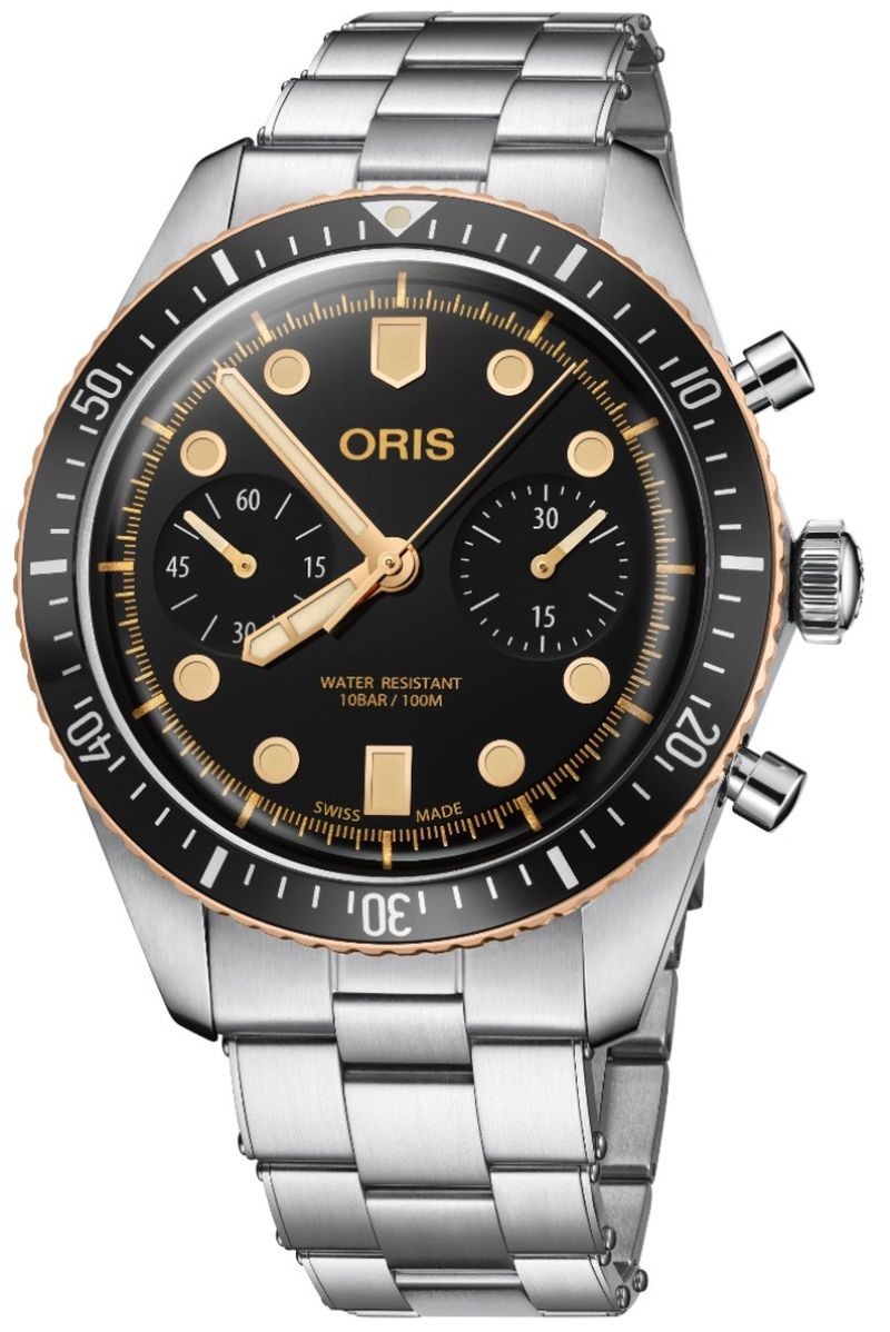 Chrono Oris Divers Sixty-Five : un chrono aussi à l'aise sur terre que sous l'eau