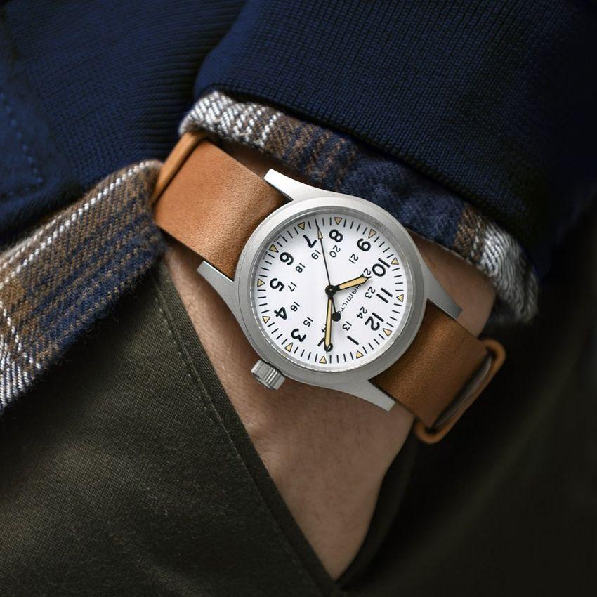 Hamilton Khaki Field Mechanical white dial
