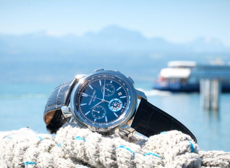 Emile Chouriet Lac Léman chronograph blue
