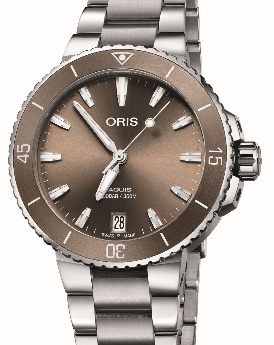 Oris Aquis Date 36,5mm brun