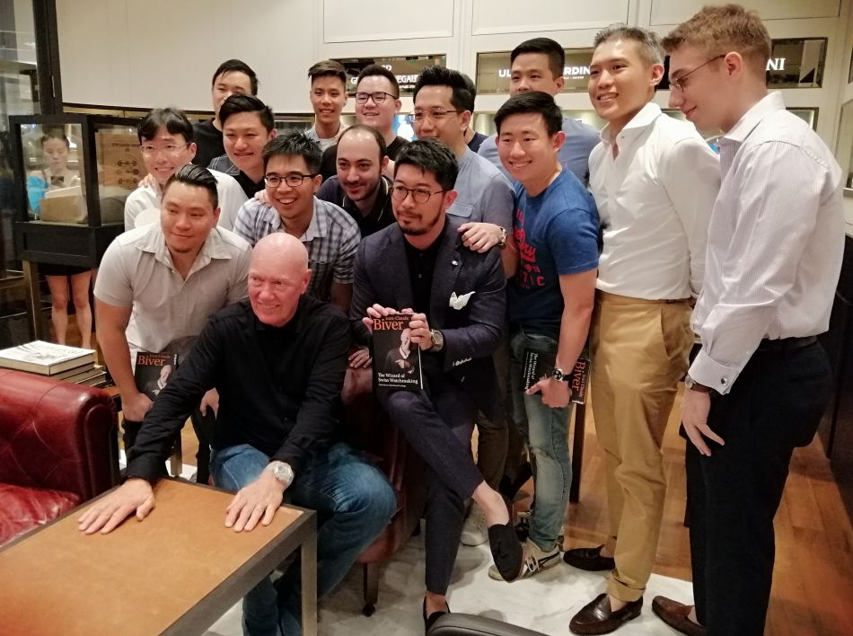 Jean-Claude Biver à Singapour avec le Singapore Watch Club, copyright Montres de luxe
