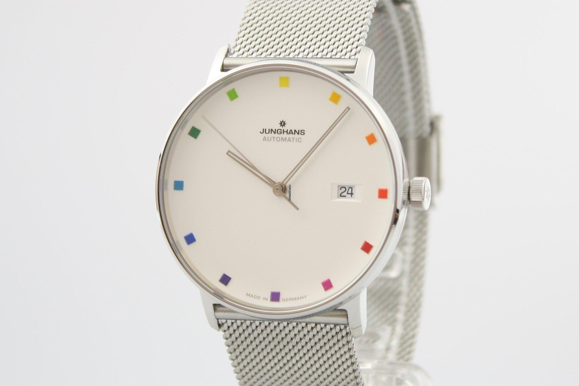 Junghans Form A 100 Jahre Bauhaus : hommage au Cercle chromatique de Johannes Itten