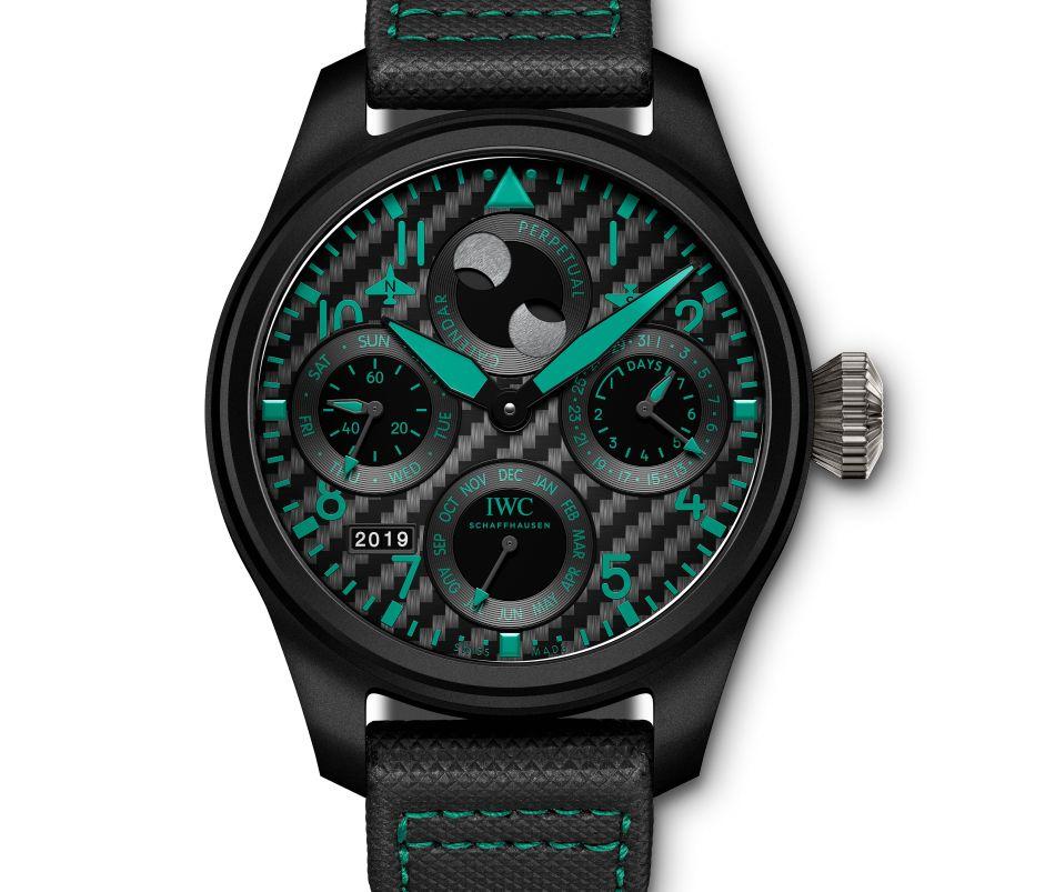 IWC Grande montre d'aviateur Calendrier Perpétuel Mercedes AMG Petronas Motorsport