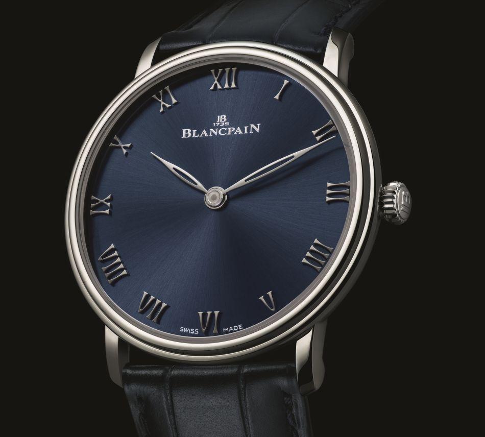 Blancpain Villeret Ultraplate platine cadran bleu