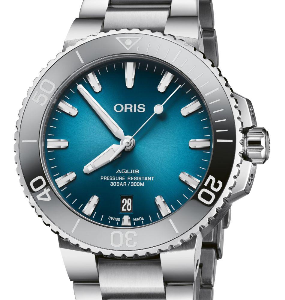 """Oris Aquis Date 39,5 mm cadran bleu """"océan"""""""