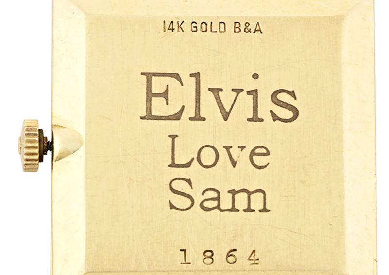 Universal Genève en or 14 carats d'Elvis Presley