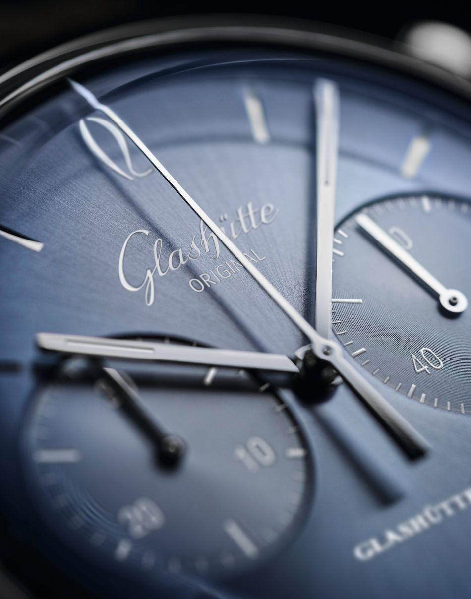 Glashütte Original : la Sixties se pare d'un beau cadran bleu glaciaire pour une nouvelle ère...