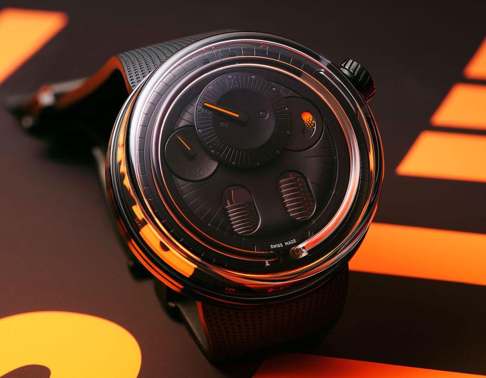 HYT H0 : une nouvelle version orange et noire pour une autre vision du temps