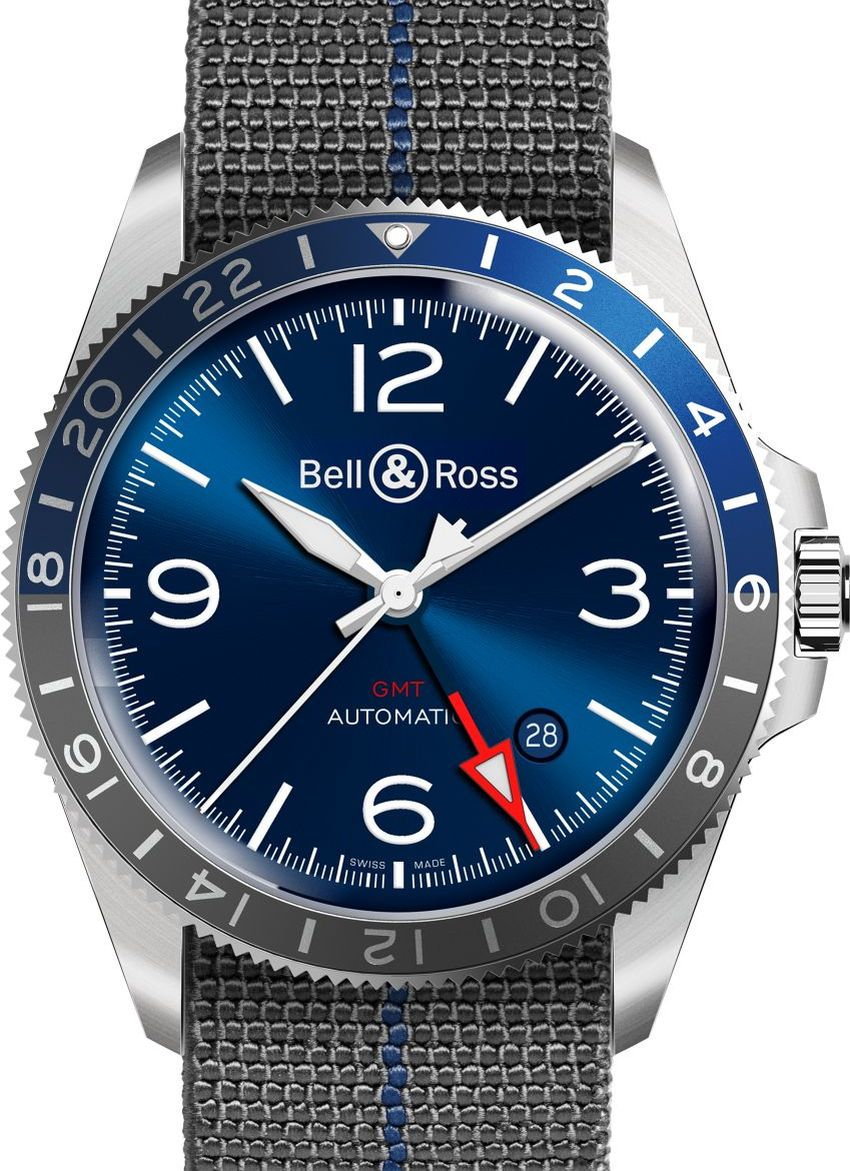 Bell & Ross BR V2-93 GMT Blue : quand on pourra reprendre l'avion...