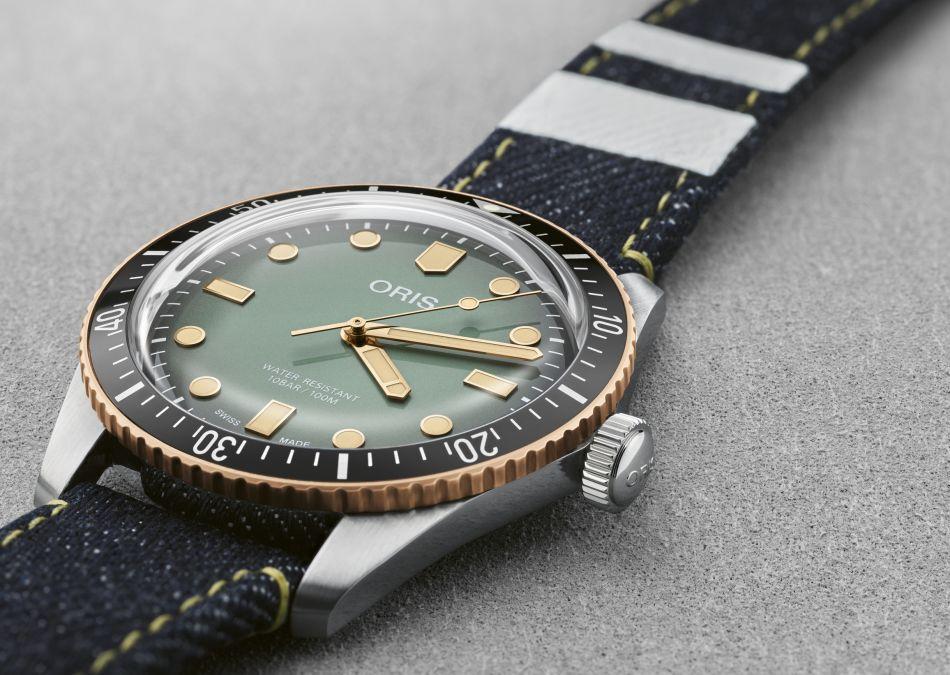 Oris x Momotaro : une Divers Sixty-Five sur un véritable bracelet en denim indigo