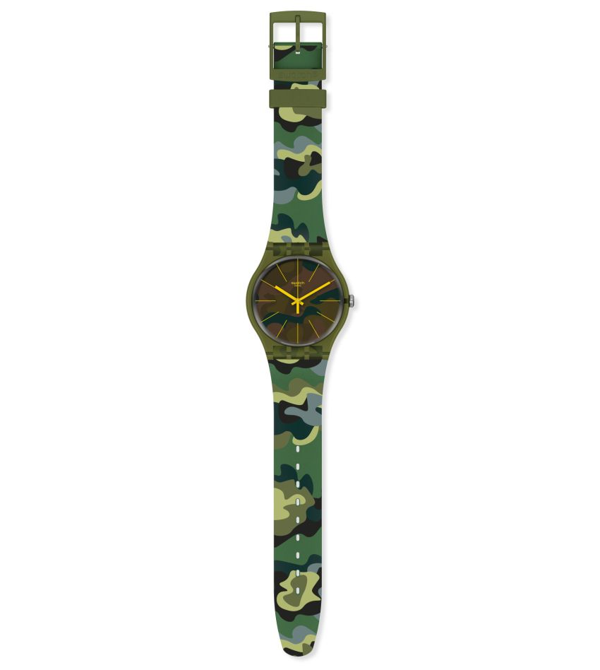 "Swatch Essentials Camouforest : une nouvelle version ""camo"" très réussie"