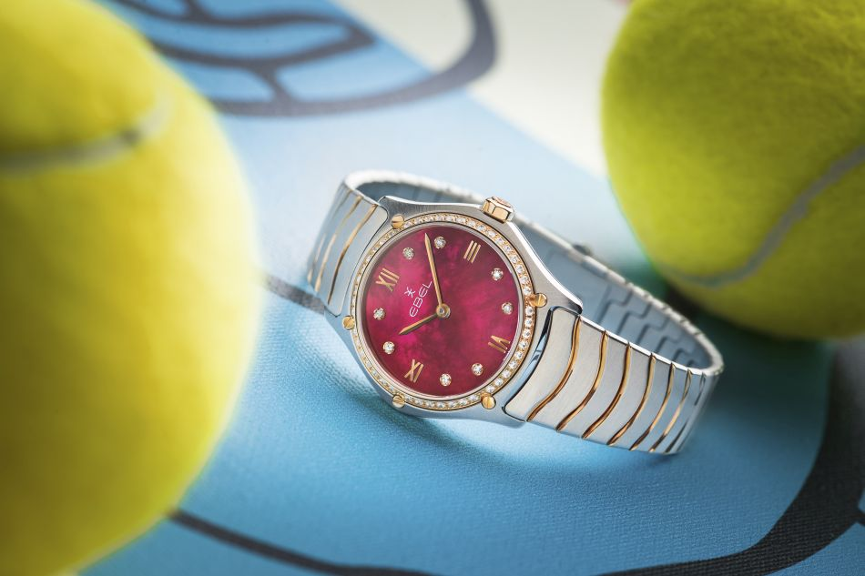 Ebel Sport Classic Lady retro red