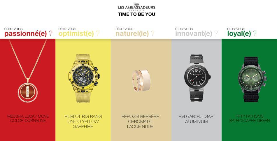 Time to be you : une exposition de 32 montres et bijoux monochromes à découvrir