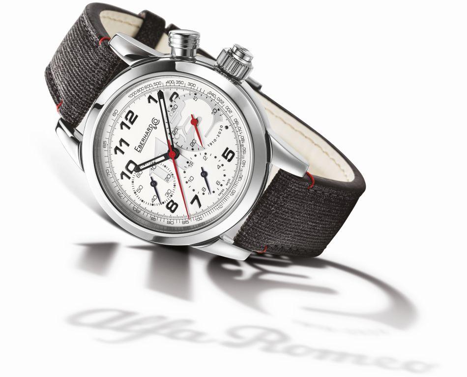 Eberhard & Co chrono 110ème anniversaire d'Alfa Roméo