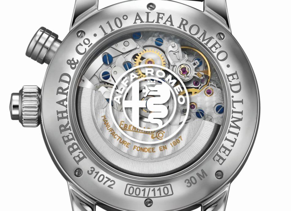 Eberhard & Co : un chrono pour le 110ème anniversaire d'Alfa Roméo