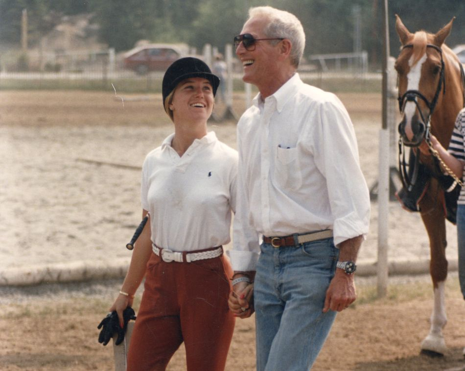 Clea Newman and Paul Newman, circa 1984 DR