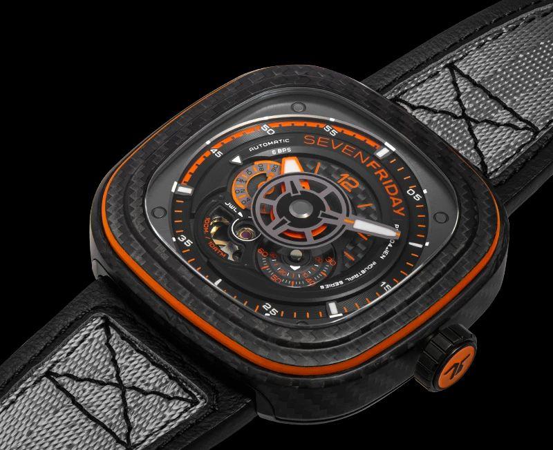 SevenFriday P3C/09 Orange Carbon