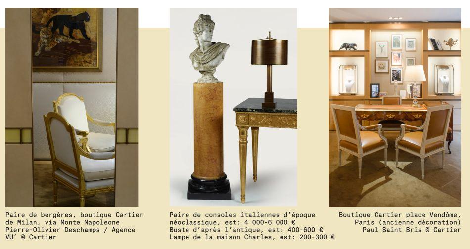 """Artcurial : belle vente de meubles """"Cartier dans ses murs"""""""