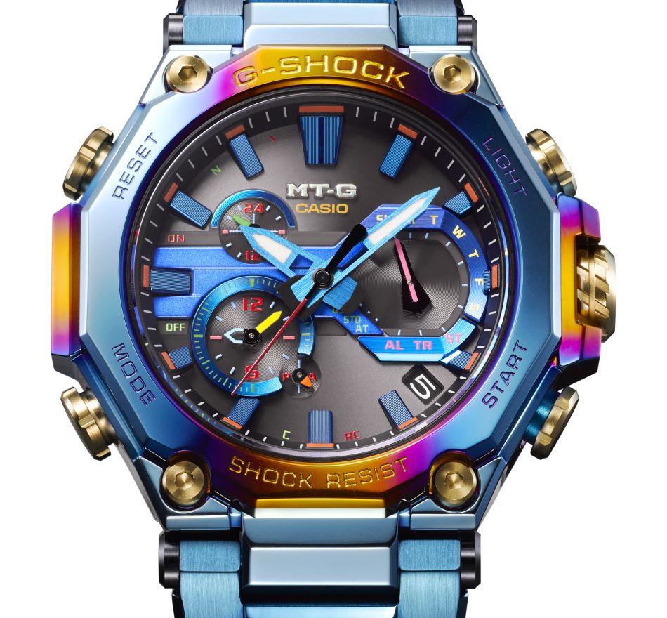 G-Shock MTG Blue Phoenix : un boitier plaqué ionique pour un oiseau mythique