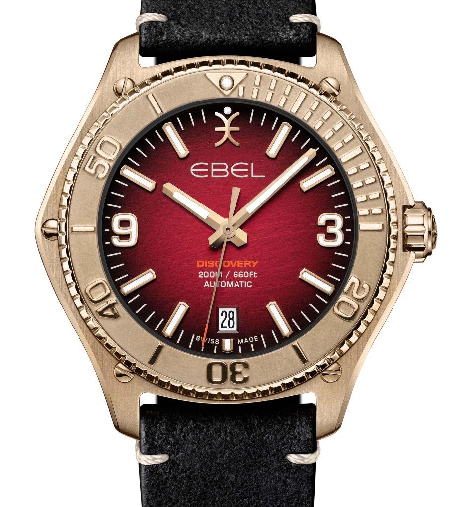 Ebel Discovery Bronze : cadran rouge ou vert