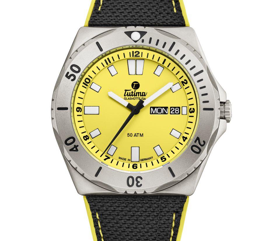 Tutima M2 Seven Seas : plutôt jaune ou orange ?