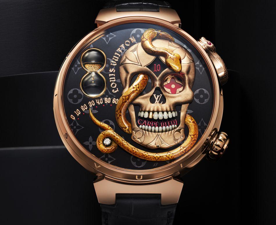 Louis Vuitton Tambour Carpe Diem : tête de mort pour ode à la vie
