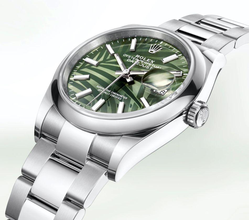 Rolex Datejust 36 : cannelé ou palmier ? Quatre nouveaux cadrans