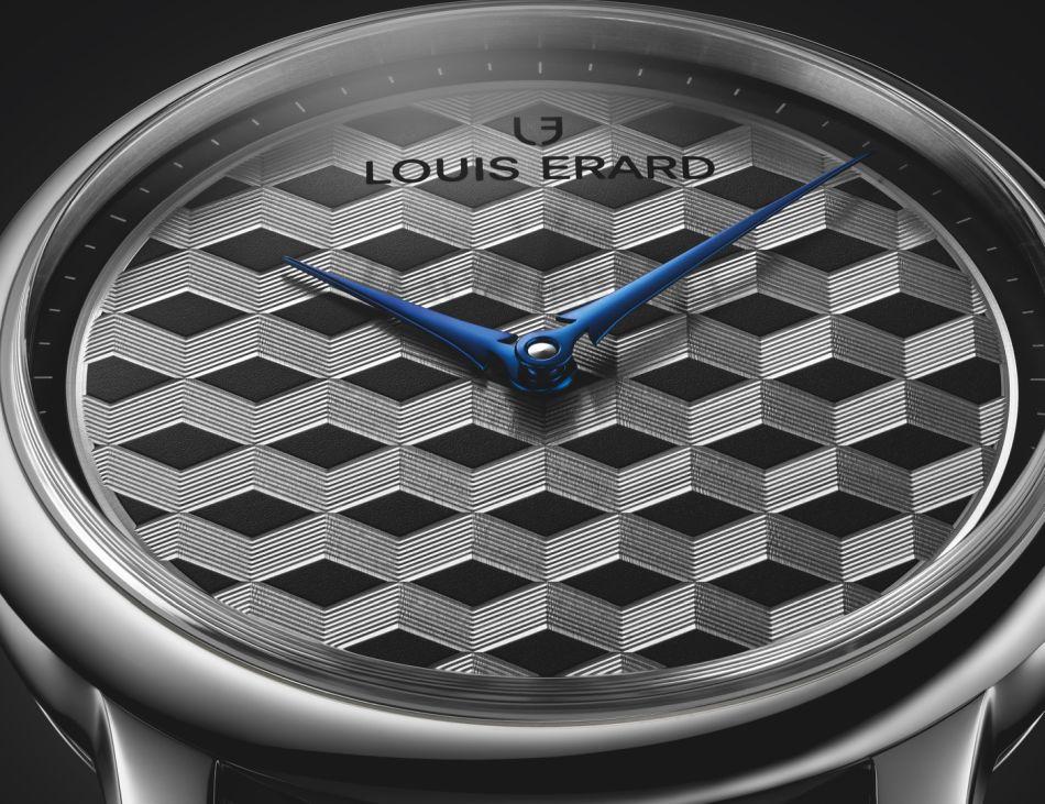 Louis Erard Excellence Guilloché Main : effet Escher