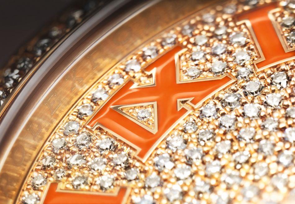 Rolex Day-Date 36 : diamants et cuir lustré