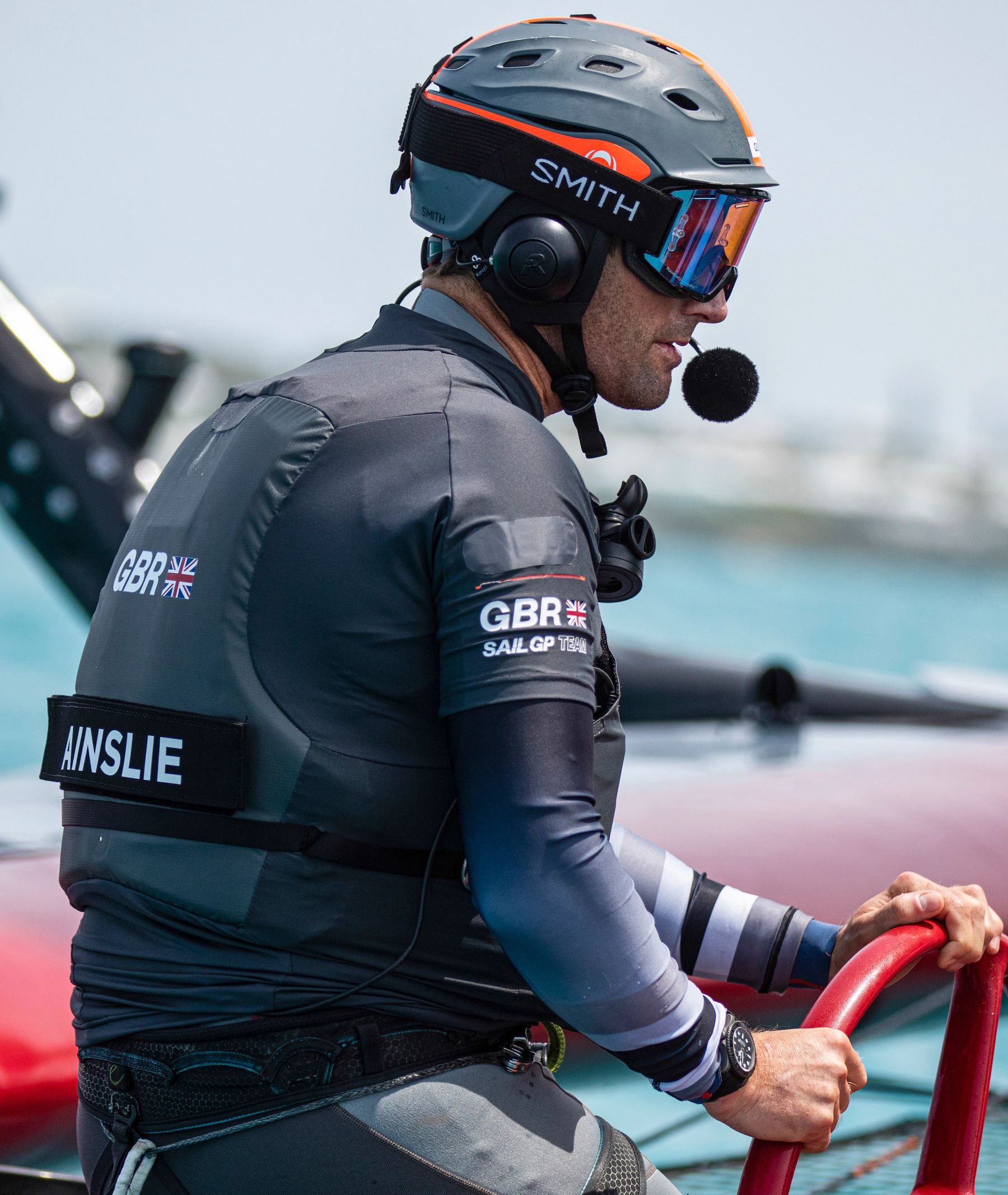 Sir Ben Ainslie, Rolex Testimonee and helm of Great Britain SailGP Team © Rolex/Javier Salinas for SailGP