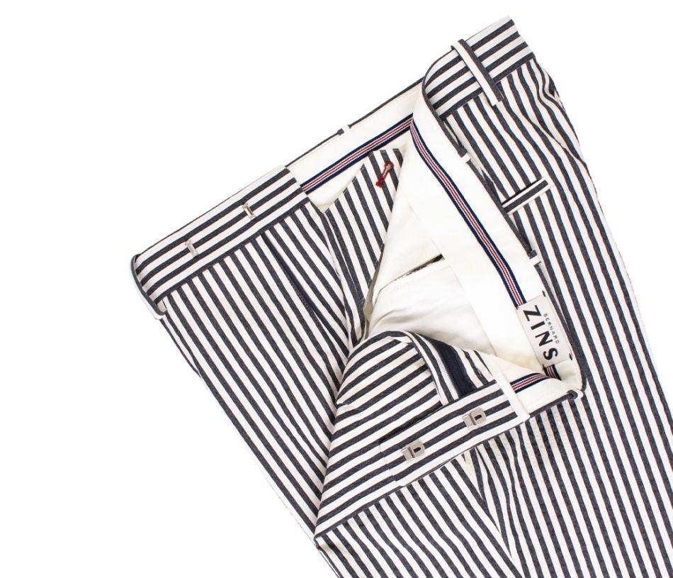 Pantalon à rayures Seersucker Bernard Zins