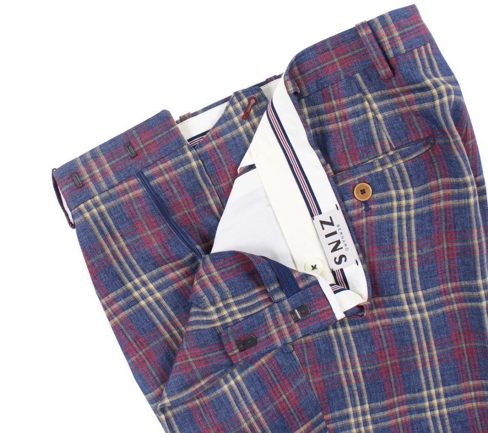 Pantalon en lin madras Bernard Zins