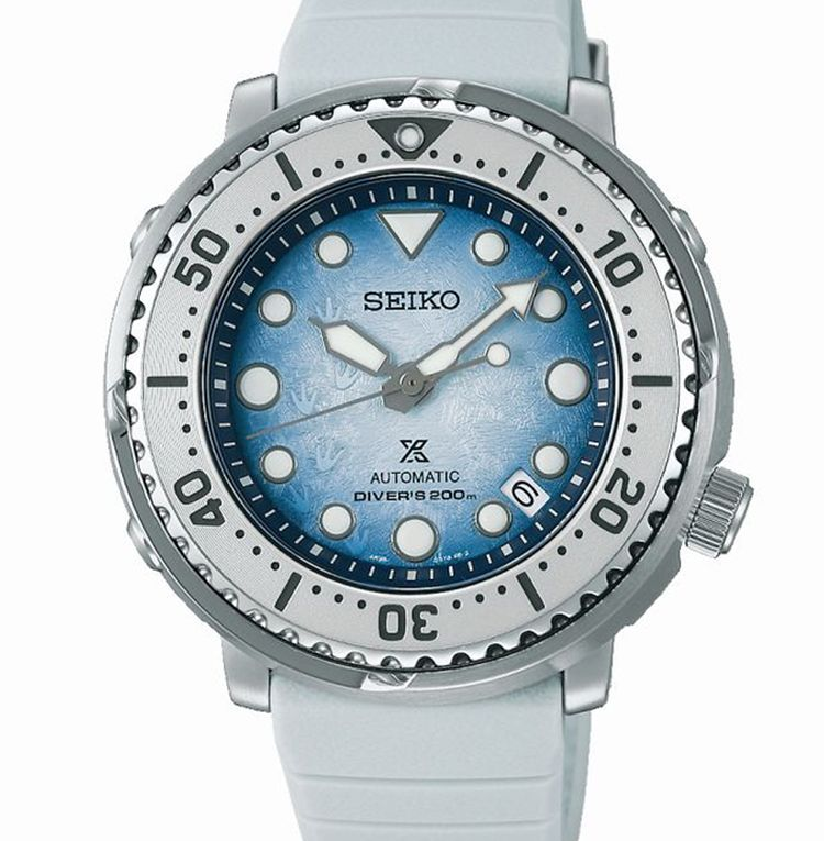 Seiko Prospex Diver's Editions spéciales Save the Ocean : cadrans bleu glacier et empreinte de pingouins