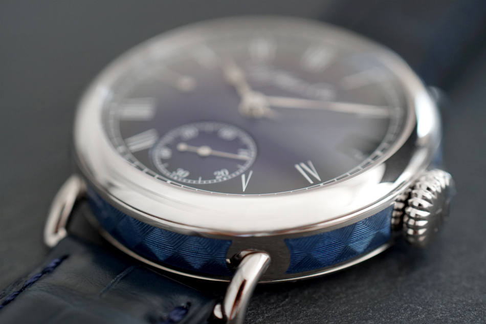 Moser Heritage Perpetual Calendar Midnight Blue Enamel