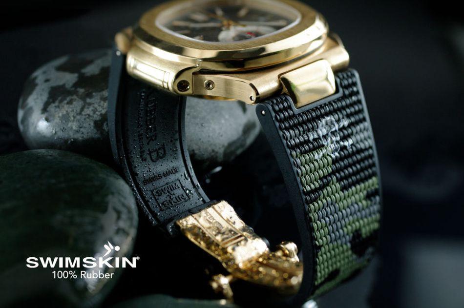 """RubberB : des bracelets SwimSkin Twill en version """"camo"""" pour les Nautilus"""