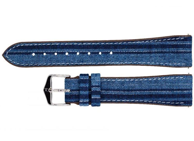 """Camaïeux de bleus pour le bracelet """"kasuri"""" de chez Hirsch"""