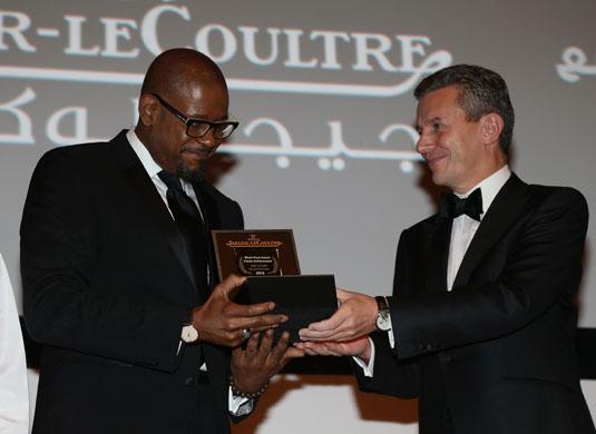 Abu Dhabi : Jaeger-LeCoultre récompense Forest Whitaker pour l'ensemble de sa carrière