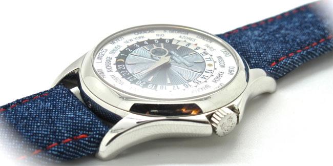Des bracelets-montres en denim chez MisterChrono
