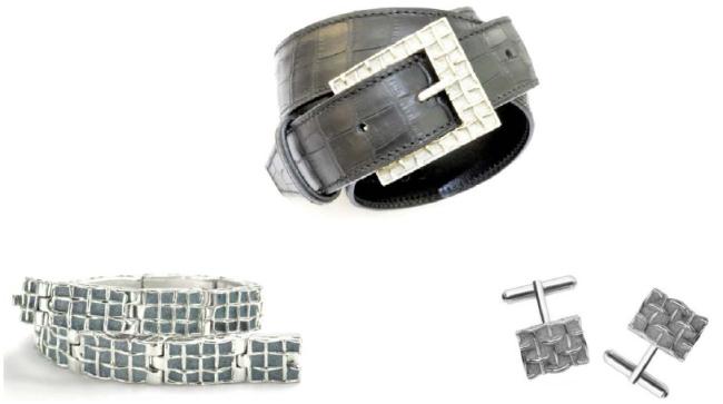 Teluric de Patrice Fabre : des bijoux pour hommes en or, en acier, en argent et en béton