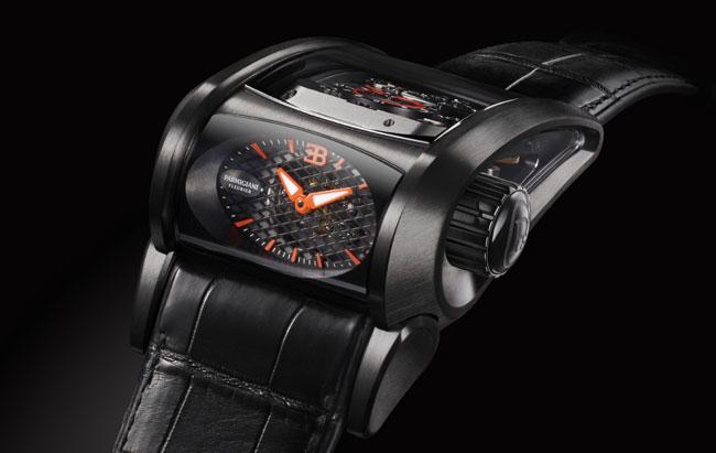 Bugatti Super Sport en or blanc ADLC noir Parmigiani Fleurier pour The Hour Glass