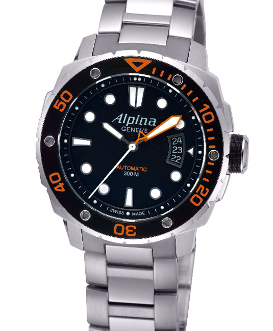Alpina Extrême Diver 300 Orange : lisibilité absolue