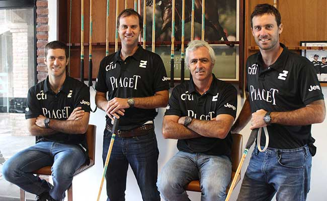 Equipe de polo La Ellerstina sponsorisée par Piaget