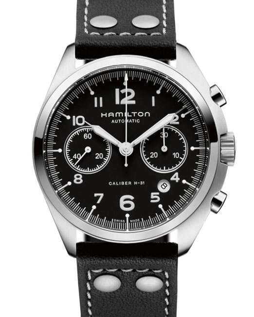hamilton khaki pilot pioneer auto chrono en mode pilote automatique. Black Bedroom Furniture Sets. Home Design Ideas