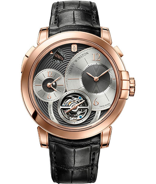 Harry Winston Midnight Tourbillon GMT Limited Edition Geneva : 5 exemplaires