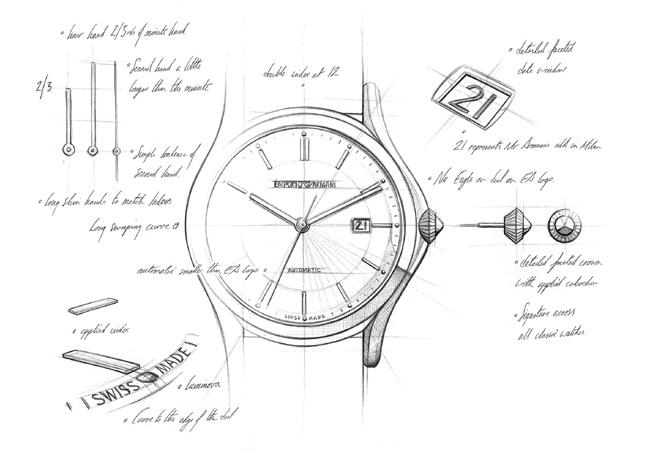 Emporio Armani Swiss Made : Giorgio Armani présente sa collection de montres à Milan
