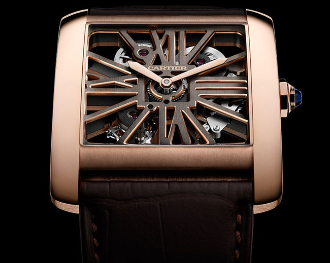 Cartier Tank MC Squelette or rose