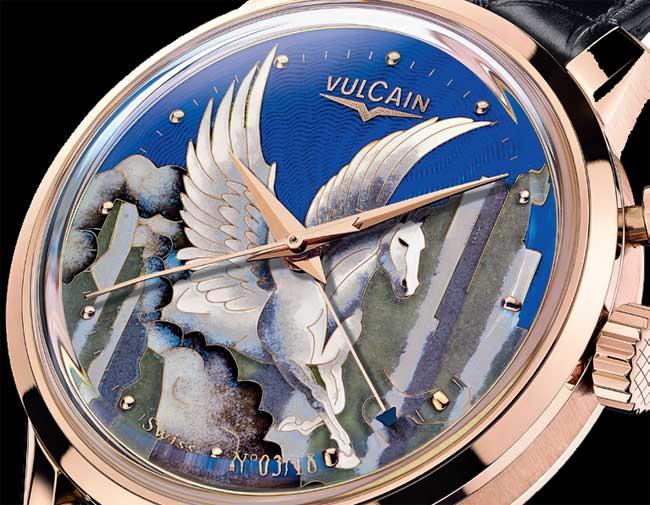 Vulcain 50s Presidents' « Pegasus » émail grand feu